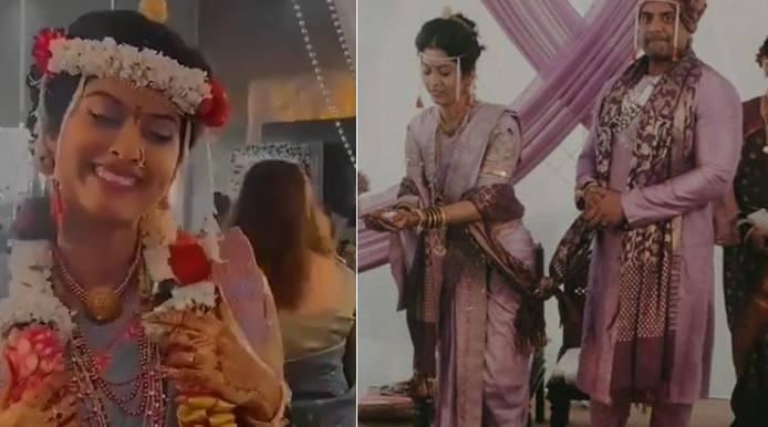abhidnya bhave wedding pic