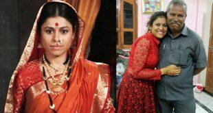actress ashwini mahangade with father