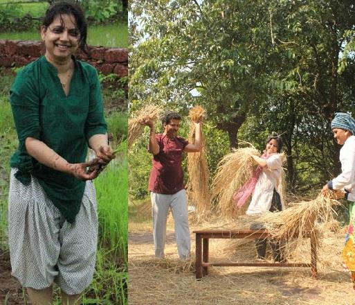 marathi actress farming