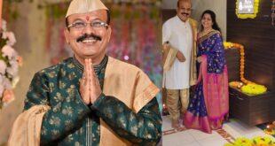 kishor mahabole with wife