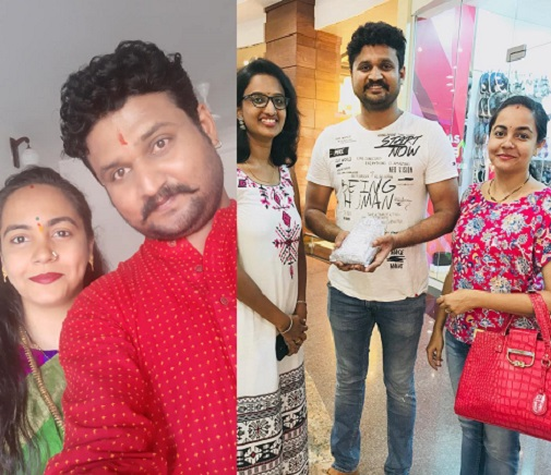 actor anand prabhu with wife netra