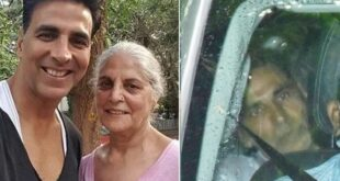 akshay with mother photos